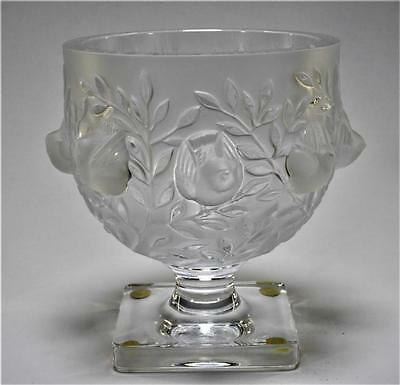 French Lalique Elisabeth Bird Glass Compote Lot 184
