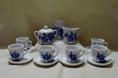 Blue and White Bone China Mini Tea Set