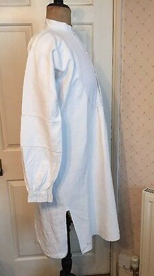 Antique French Handwoven Linen Chore Work Shirt Smock Vintage