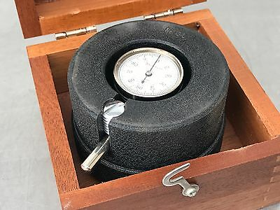 2 Starrett No. 192 Vibrometer In Wooden Boxes! Measure Amplitude Of Vibration!