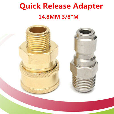 """Pressure Washer Quick Release 14.8mm Coupling Male 3/8"""" Male Probe Connector"""