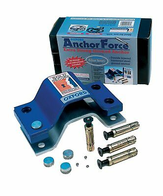 Motorcycle Motorbike Oxford Anchor Force 4 Bolt Ground Anchor Sold Secure