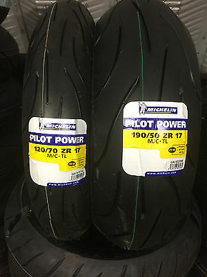 120/70-17 190/50-17 Michelin Pilot Power YAMAHA YZF-R1 Motorcycle Tyres PAIR