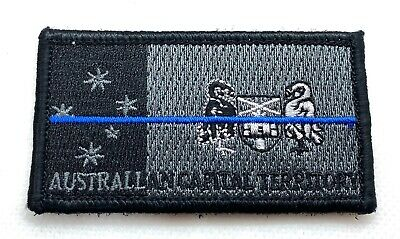 ACT Police Patch*, Thin Blue Line, Subdued, Law Enforcement, Hook Rear