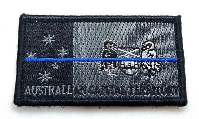 ACT Thin Blue Line, Police Patch*, Subdued, Law Enforcement, Hook Rear