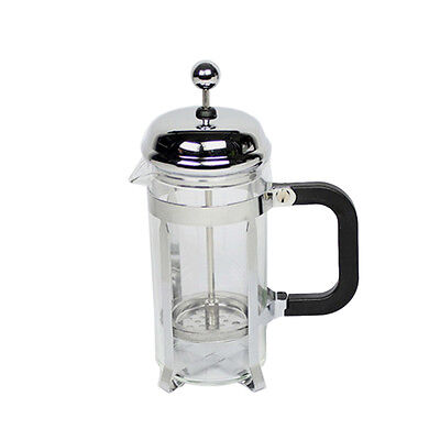 350ml Stainless Steel Glass Tea Coffee Cup french Plunger Press Maker G2N7