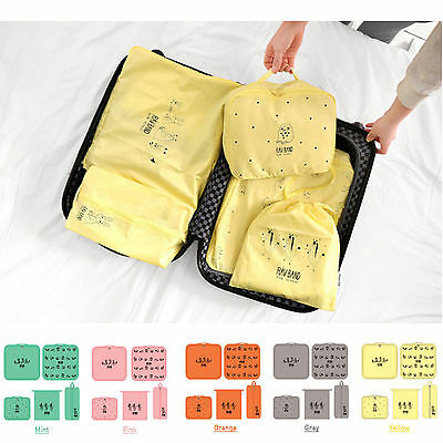 5x Travel Bag Organiser Toiletry Clothes Shoe Case Tidy Bags Suitcase Luggage