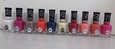 10 x Sally Hansen Miracle Gel Nagellack Sammlung, je 14,7 ml, NEU