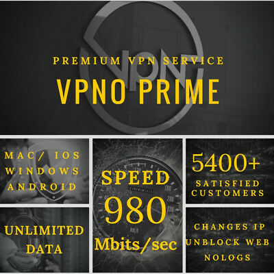 VPN Account 40 Days Service / Unlimited Data 1 User Server - Fast Email Delivery
