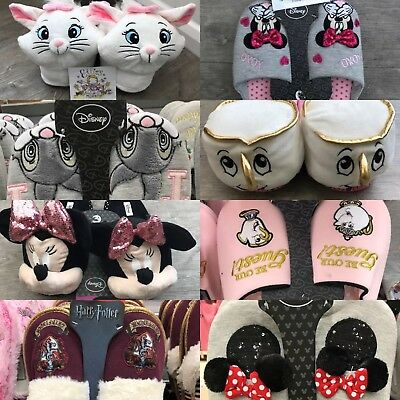 Disney Beauty And The Beast Chip Harry Potter Unicorn Womens Ladies Slippers