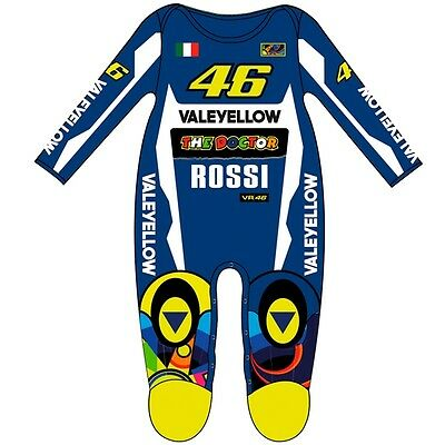 New Official Valentino Rossi Leather Replica VR46 Baby Overall Suit VRKOA 263403