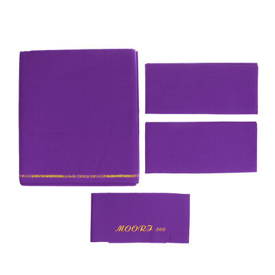 Purple M00RI500 Worsted Pool Table Cloth 9ft Table,Bed Cloth & Cushion Strip