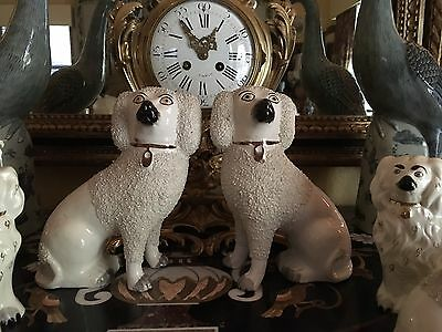Handsome Large Pair Staffordshire Spaniels Dogs