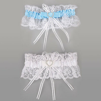 Ivory Satin Luxury Lace Bridal Fancy Bow Diamante Wedding Garter With Lucky Poem