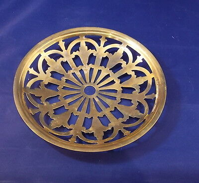 Tiffany & Co. Brass Gilt Pierced Flower Frog Cover for Centerpiece Bowl 18867