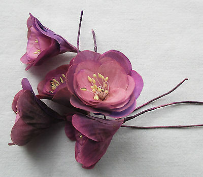 Pretty Vin. Millinery Flowers 5  Crocus Ombre Shades Orhid/Lavender French