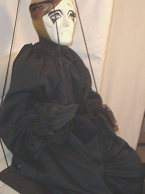 DOLL ON SWING Figure MARIONETTE Ying Yang Puppet  4' FT Art Large! Halloween