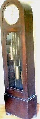 German Urgos Oak 3 Weights Driven Westminster Chimes Grandfather Clock GWOi