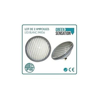 Lot de 2 Ampoules de piscine Type PAR56 Blanc à LED
