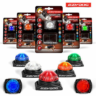 EzyDog Adventure Light Flashing Dog Safety LED All Colours or Maintenance Kit