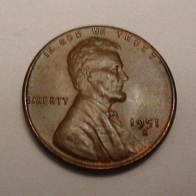 1951 S Lincoln Wheat Cent / Penny Coin   *FINE OR BETTER*   **FREE SHIPPING**