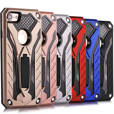 """10/Lot 4.7"""" iPhone 7 Shockproof Rugged Kickstand Case Hybrid Rubber Cover"""
