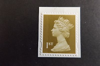 GB QEII Machin Definitive Stamp. SG 2295 1st Gold s/a 2B MNH ex BOOKLET STAMPS