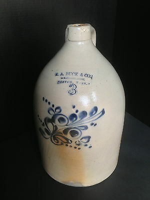 Antique 3 Gallon Jug E.a. Buck & Co - Boston, Mass
