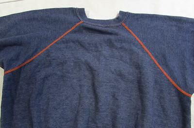 Vtg 60s Short Sleeve Sweatshirt Athletic Knit Sportswear Contrasting Stitching