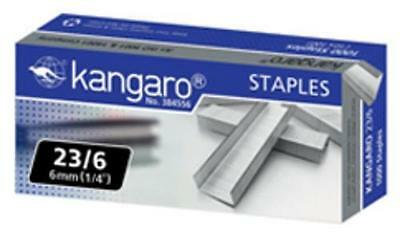 KANGARO HEAVY DUTY STAPLER STAPLES 23/6- H 6mm (1/4'') 1000 STAPLES