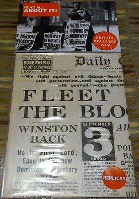 WW2 - Replica Newspaper - Daily Express - Dunkirk - WW2 Soldiers Safely Home