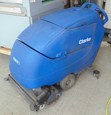 CLARKE Focus II Walk Behind Industrial Floor Scrubber Cleaner Vacuum FOR PARTS