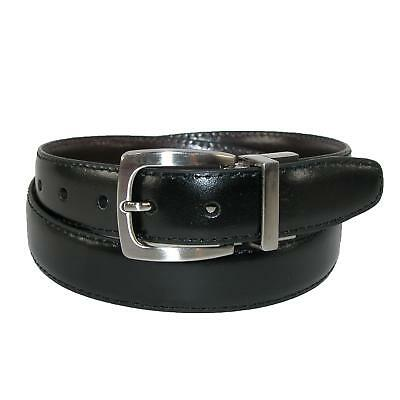 New Dockers Boys' Leather Feather Edge 1 Inch Reversible Belt