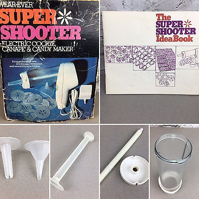 Wear Ever Super Shooter cookie candy maker replacements, barrel, piston, tips