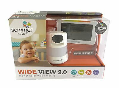 Summer Infant Wide View 2.0 Digital Color Video Baby Monitor Talk-Back 29580
