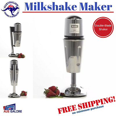 Milkshake Maker Mixer Machine Cafe Breville Frother Shake Dessert Double Blades