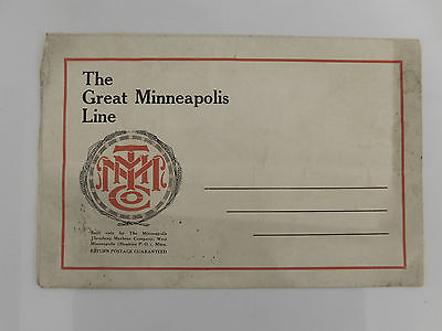 1920 Minneapolis Thrasher Co Ad Fold Out Poster 41X27 Featuring The 35-70  22-44