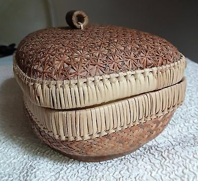 Beautiful Chinese Sewing Basket  Small Fine Hand Made