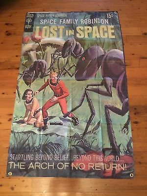 LOST IN SPACE 5x3 foot flag Robinson family Dr Smith man cave pool room