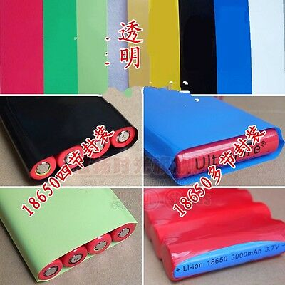 18650 Battery 4 Sections Pack Sleeve PVC Heat Shrink Tubing Wraps Φ55 Width 85mm