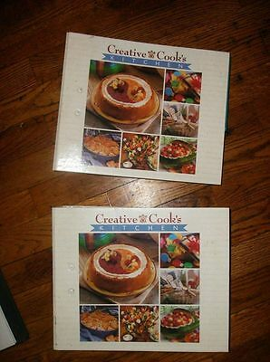 Creative Cooks Kitchen Cookbook Binders Set: hundreds of recipe cards Lot of 2