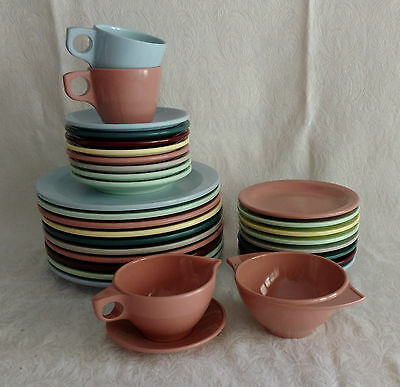 Vintage Mid-Century Boonton Ware Melmac Melamine USA - 31 Colorful Dishes