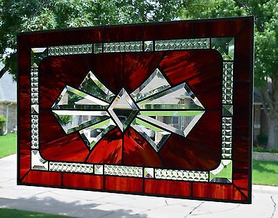 """Stained Glass Window Panel """"Bow Bevel"""""""