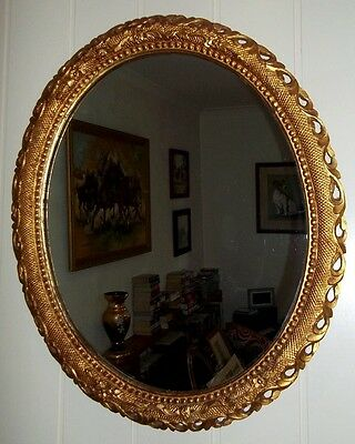 Antique Victorian Mirror in Carved & Gilded Frame