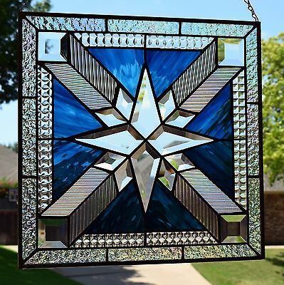 """Stained Glass Window Panel """"Mission Star"""""""