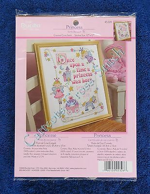 Cross Stitch Kit Princess Baby Birth Record Announcement Castle Fairies