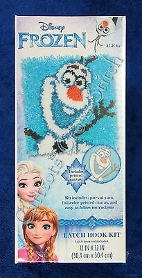 "Latch Hook Kit Disney Frozen's Olaf 12"" x 12"" Dimensions Printed Canvas"