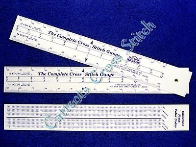 The COMPLETE Cross Stitch Gauge A Must Have Counts Stitches Floss Conversion