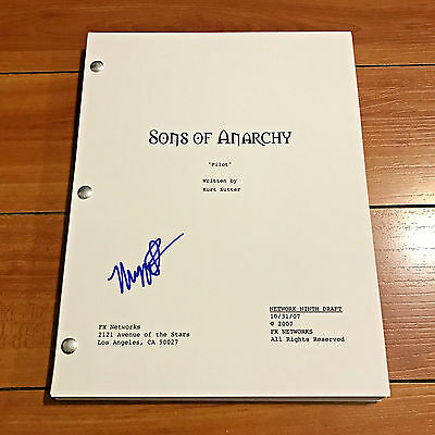 MAGGIE SIFF SIGNED SONS OF ANARCHY FULL 64 PAGE PILOT SCRIPT w/ EXACT PROOF PICS