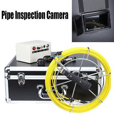 "DVR Recording 100ft  7"" LCD Drain Sewer Pipe Inspection Camera Video Endoscope"